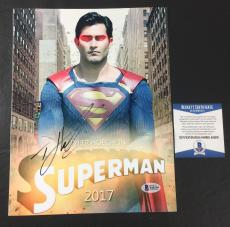 TYLER HOECHLIN SIGNED AUTOGRAPHED SUPERGIRL 'SUPERMAN' 8x10 BAS COA BECKETT 3