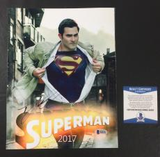 TYLER HOECHLIN SIGNED AUTOGRAPHED SUPERGIRL 'SUPERMAN' 8x10 BAS COA BECKETT 4