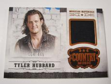 TYLER HUBBARD 2014 Panini Country Music Musician Materials Relic Card 404/449