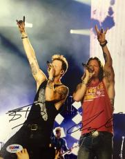 Tyler Hubbard Brian Kelley Florida Georgia Line Signed 8x10 Photo Psa/Dna