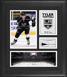 """Tyler Toffoli Los Angeles Kings Framed 15"""" x 17"""" Collage with Piece of Game-Used Puck"""