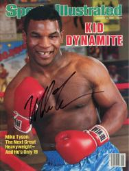 TYSON, MIKE AUTO (1/6/86) (KID DYNAMITE) SI MAGAZINE - Mounted Memories
