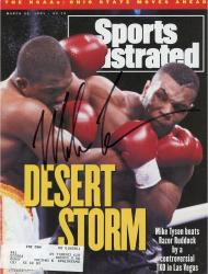 Autographed Mike Tyson Sports Illustrated Magazine 3/25/91 Desert Storm