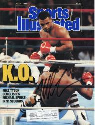 TYSON, MIKE AUTO (7/4/88) (KO) SI MAGAZINE - Mounted Memories