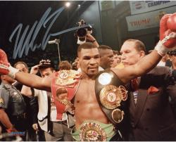 TYSON, MIKE AUTO (BELTS) 8x10 PHOTO - Mounted Memories