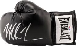 TYSON, MIKE AUTO (BLACK) EVERLAST BOXING GLOVE - Mounted Memories