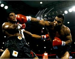 TYSON, MIKE AUTO (KNOCKDOWN) 16X20 PHOTO - Mounted Memories
