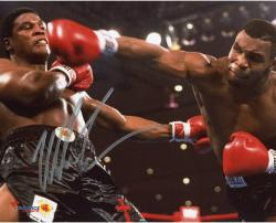 TYSON, MIKE AUTO (KNOCKDOWN) 8x10 PHOTO - Mounted Memories