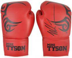 Mike Tyson Autographed Red Boxing Glove Pair - Mounted Memories