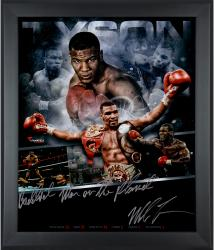 Mike Tyson Framed Autographed 20'' x 24'' In Focus Photograph with Baddest Man on the Planet Inscription-#50 of a Limited Edition of 50