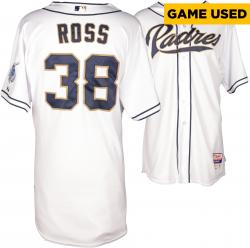 Tyson Ross San Diego Padres Game Used White Jersey from 4/2/14 vs Los Angeles Dodgers