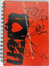U2 Band (3) Bono, The Edge & Adam Clayton Signed Elevation Tour Book PSA #U03972