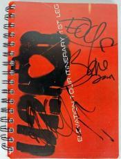 U2 Band (3) Bono, The Edge & Adam Clayton Signed Elevation Tour Book PSA #U03972