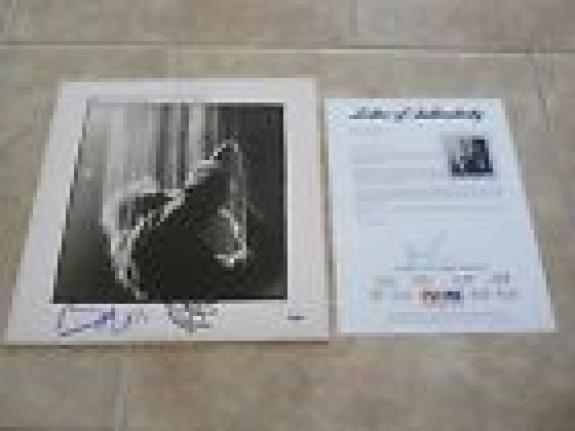U2 Bono & Adam Wide Awake In America Signed Autographed LP Album PSA Certified