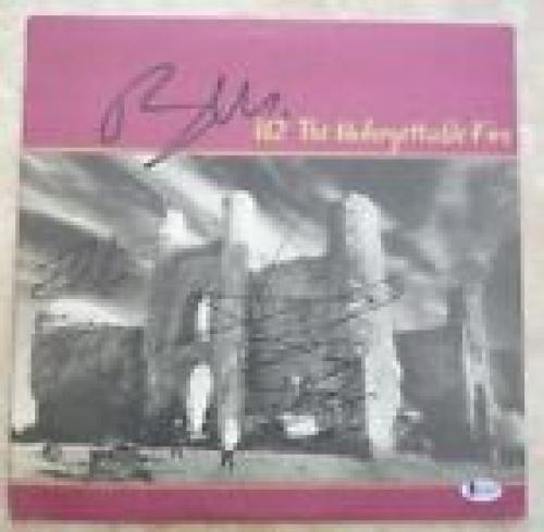 U2 Bono Edge & Adam Unforgettable Fire Signed Autographed LP Beckett Certified