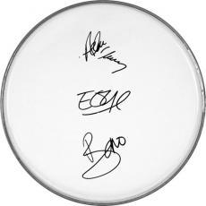 U2 Bono Edge Larry Adam Autographed Facsimile Signed Clear Drumhead