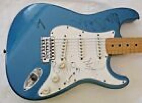 U2 Bono Edge Larry Adam Band Body Signed Autographed Guitar BAS & REAL Certified