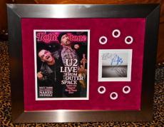 U2 Bono Edge signed No Line CD Rolling Stone magazine FRAMED JSA COA Adam 360 09
