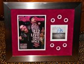 U2 Bono Edge signed No Line CD Rolling Stone magazine FRAMED JSA COA Adam 360 09