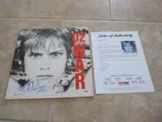 U2 Bono & Edge WAR Signed Autographed LP Album Record PSA Certified