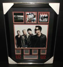 U2 Bono Engraved Signature Plates Photo Framed Album Cover