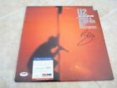 U2 Bono Live Under A Blood Red Sky Signed Autographed LP Album PSA Certified