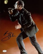"U2: Bono Signed Autographed 11"" x 14"" Color On-Stage Photo JSA Authentic"