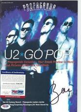 "U2 BONO signed autographed FAN CLUB ""PROPAGANDA"" MAGAZINE PSA/DNA COA"
