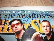 U2 Bono Signed Autographed Rolling Stone Magazine Cover Photo