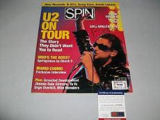 U2 BONO signed autographed SPIN MAGAZINE PSA/DNA COA