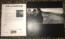 U2 Bono signed autographed The Joshua Tree 1987 album record LP PSA DNA COA