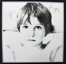U2 (Bono, The Edge & Larry Mullen) Signed Album Cover W/ Vinyl PSA/DNA #AA01983