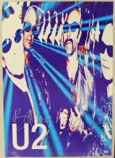 U2 Bono & The Edge Signed 23.5X33 Poster Autographed PSA/DNA #J00351