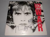 "U2 BONO & THE EDGE signed autographed ""WAR"" LP RECORD BECKETT COA (BAS)"