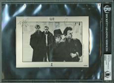 U2 Group Signed Autographed 5x7 Anton Corbijn Photograph Bono Edge Beckett BAS