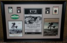 U2 Joshua Tree 1987 autographed signed tour book VIP PASS poster BONO EDGE PSA
