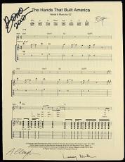 U2 Bono Signed 8x11 The Hands That Built America Music Sheet Mears LOA