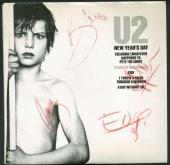 U2 Signed Autographed News Year's Day 45 Album Bono Edge Clayton +1 JSA