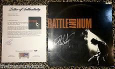 U2 THE EDGE signed autographed Rattle & Hum album record LP PSA DNA COA bono