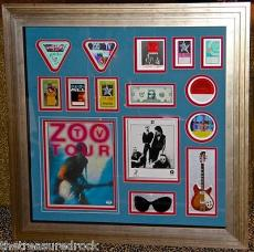 U2 ZOO TV autographed signed BY ALL photo PASS GUITAR TOUR BOOK BONO EDGE PSA