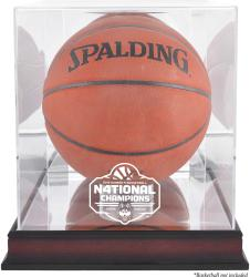 UConn Huskies 2016 NCAA Women's Basketball National Champions Logo Mahogany Antique Finish Basketball Display Case with Mirror Back