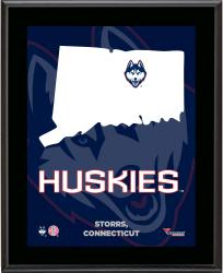 "UConn Huskies Sublimated 10.5"" x 13"" State Plaque"