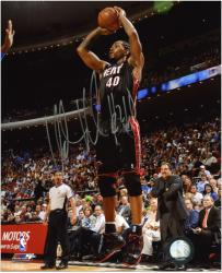 "Miami Heat Udonis Haslem Autographed 8"" x 10"" Photo - Mounted Memories"
