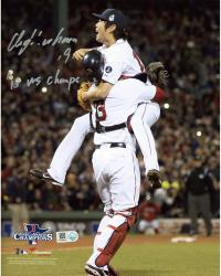 Koji Uehara Boston Red Sox 2013 World Series Champions Autographed 8'' x 10'' Photograph with 13 WS Champs Inscription - Mounted Memories