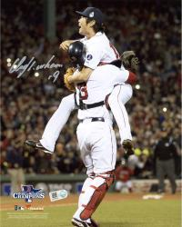 Koji Uehara Boston Red Sox 2013 World Series Champions Autographed 8'' x 10'' Action Photograph - Mounted Memories