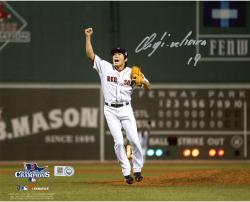 Koji Uehara Boston Red Sox 2013 World Series Champions Autographed 8'' x 10'' Photograph - Mounted Memories