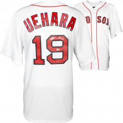 Koji Uehara Boston Red Sox Autographed Replica White Jersey - Mounted Memories
