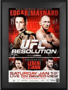 "UFC 125 Resolution Edgar vs. Maynard Framed Autographed 27"" x 39"" 22-Signature Event Poster"