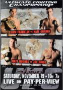 "UFC 56 Full Force Franklin vs. Quarry Autographed 27"" x 39"" 16-Signature Event Poster"
