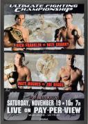 "UFC 56 Full Force Franklin vs. Quarry Framed Autographed 27"" x 39"" 16-Signature Event Poster"
